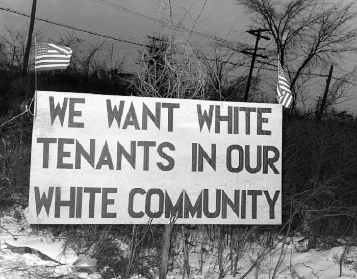 «Мы хотим белых арендаторов в нашем Белом сообществе».
