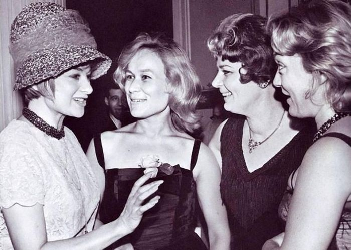 Хеди Варади, Майя Булгакова, Вера Семере и Олеся Иванова, 1961 год.