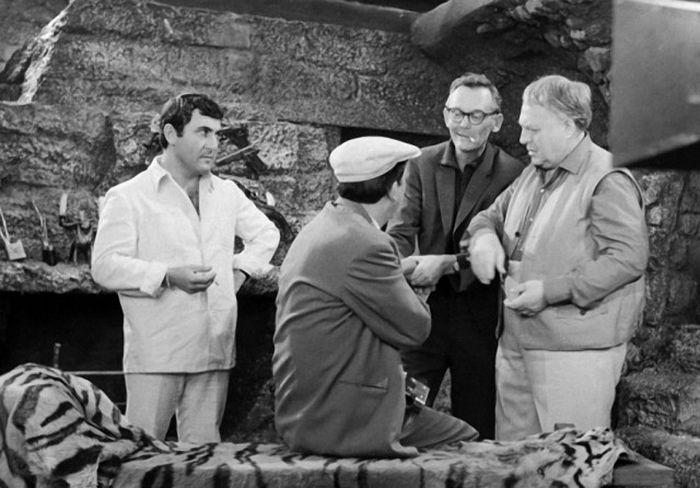 Леонид Каневский, Юрий Никулин, Леонид Гайдай и Григорий Шпигель, 1968 год.