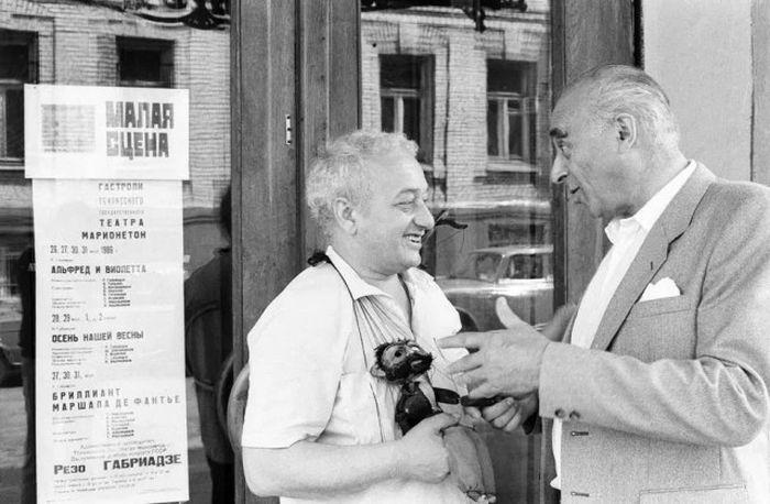 Резо Габриадзе беседует с Владимиром Этушем, 13 июня 1986 года.