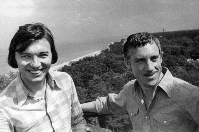 Карел Готт и Владимир Высоцкий в городе Дубулты. Латвия, 1972 года.