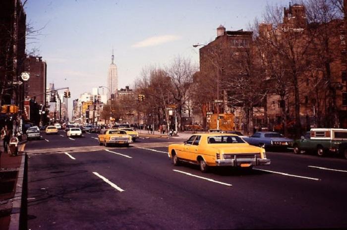 Главная дорога в Нью-Йорке в районе Манхэттена.
