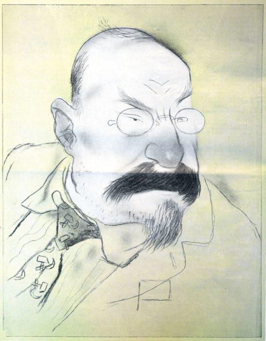Карикатура на первого наркома просвещения РСФСР.