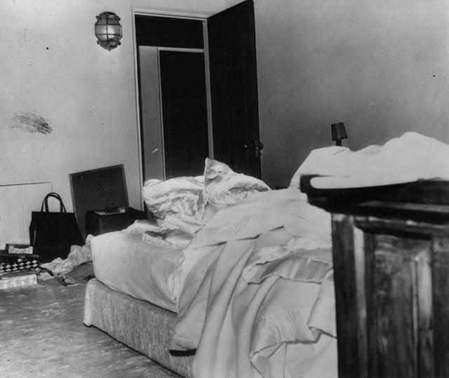 Спальня, в которой нашли мертвую Мэрилин Монро, 6 августа 1962 год.