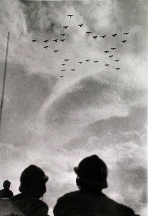 Воздушная часть парада в Тушино, 1933 год.