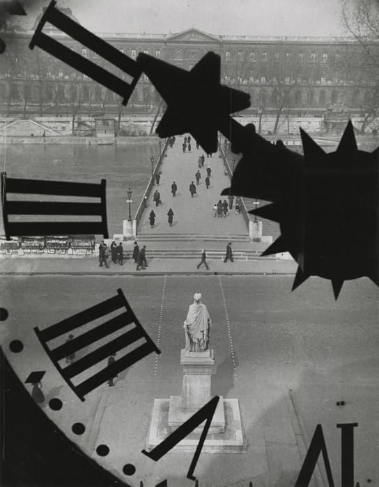 Первый железный мост через реку Сену в Париже. Франция, 1932 год.