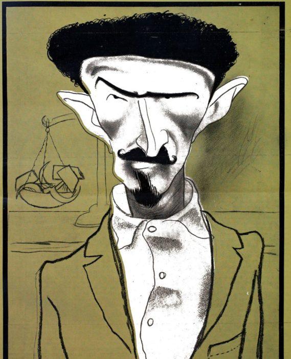 Карикатура на одного из наиболее влиятельных советских политиков.