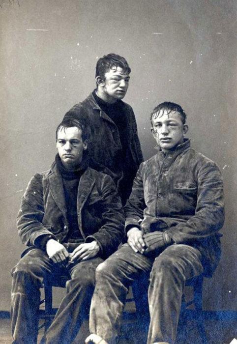 Студенты Принстонского университета после игры в снежки, 1893 год.