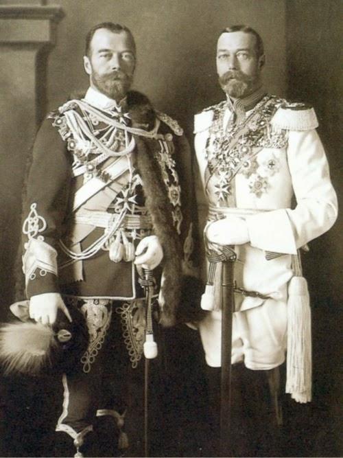 Король Великобритании Георг V вместе с российским императором Николаем II.