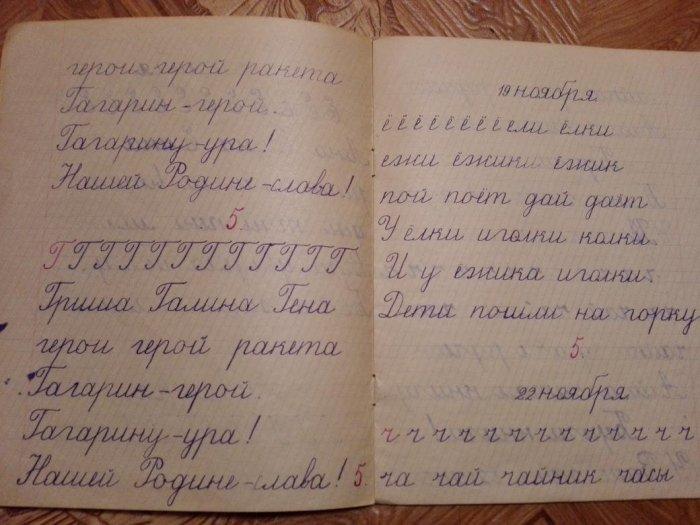 Чистописание пришло в СССР из дореволюционных школ, где оно называлось каллиграфией.