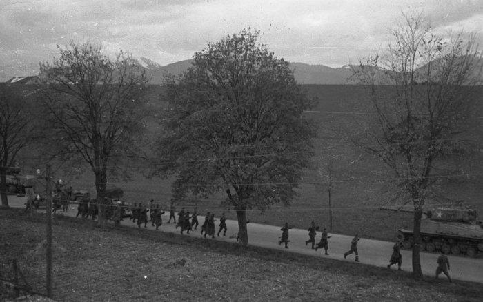 Бегство немецких солдат.