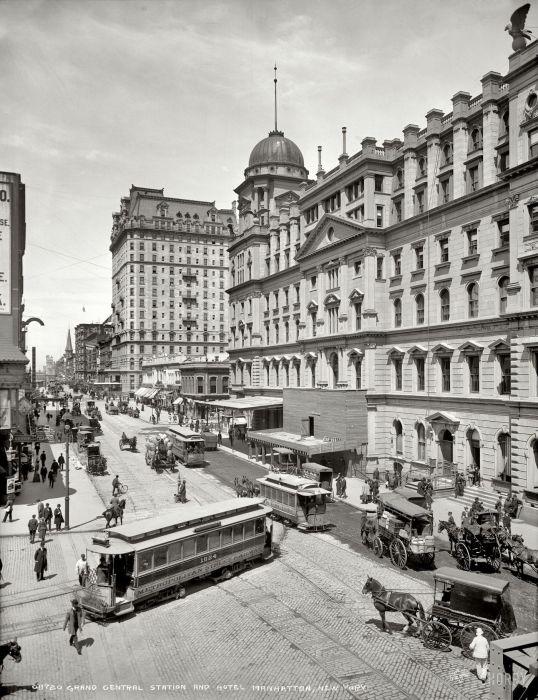 Центральный вокзал и гостиница в Манхэттене. США, Нью-Йорк, 1903 год.