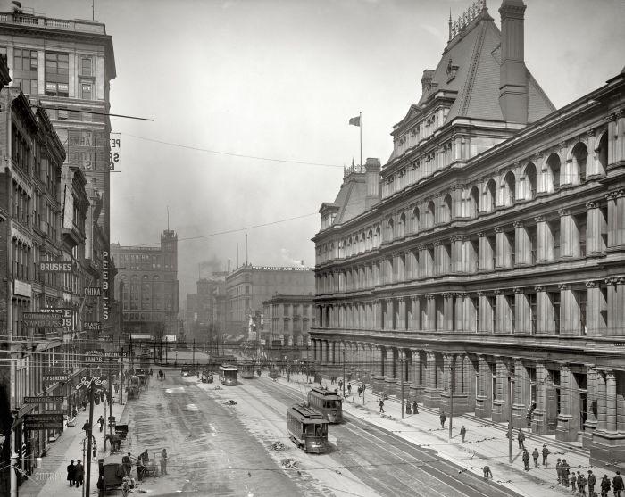 Площадь правительства в Цинциннати. США, штат Огайо, 1905 год.