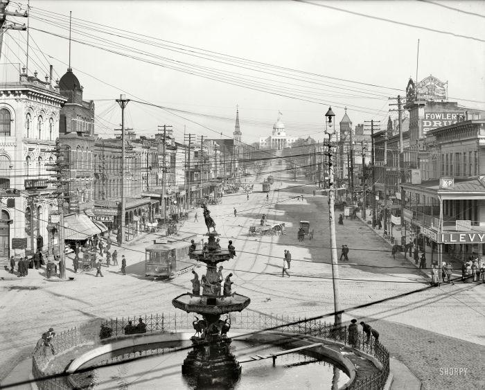 Фонтан на Декстер-авеню. США, Монтгомери, 1906 год.