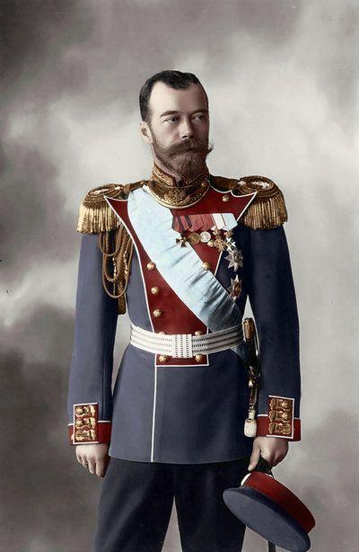 Николай II в парадном мундире.
