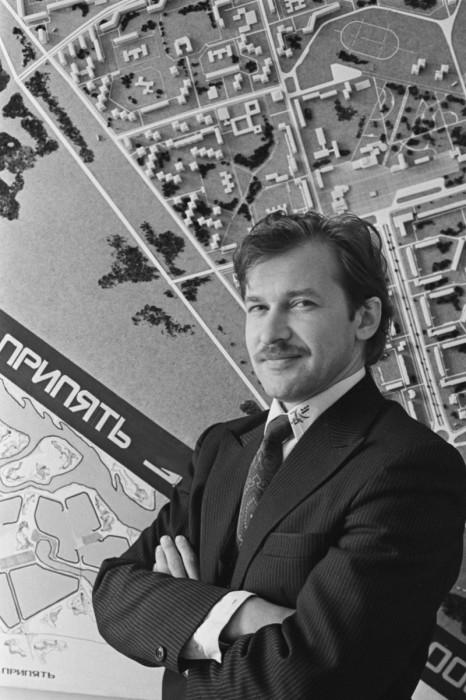 Главный архитектор города Припять, выпускник Киевского инженерно-строительного института Валерий Пуговкин.