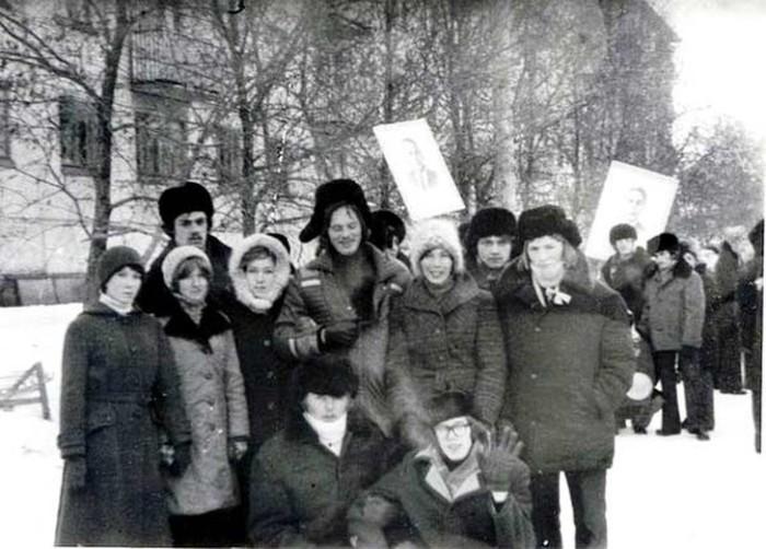 Фото участников демонстрации 7 ноября.