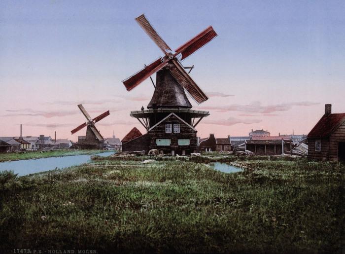 Эти ветряные мельницы использовались для перекачки воды.
