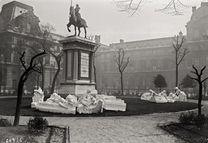 Конный памятник маркизу Лафайету. Франция, Париж, 1921 год.