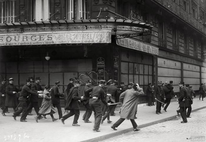 Массовые беспорядки в Париже. Франция, 1920 год.