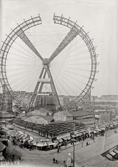 Демонтаж аттракциона. Франция, Париж, 1921 год.