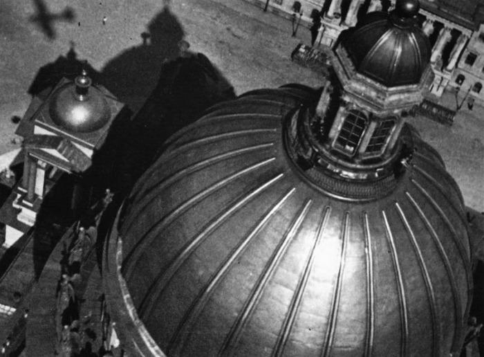 Вид на православный собор с высоты птичьего полёта, 1933 год.