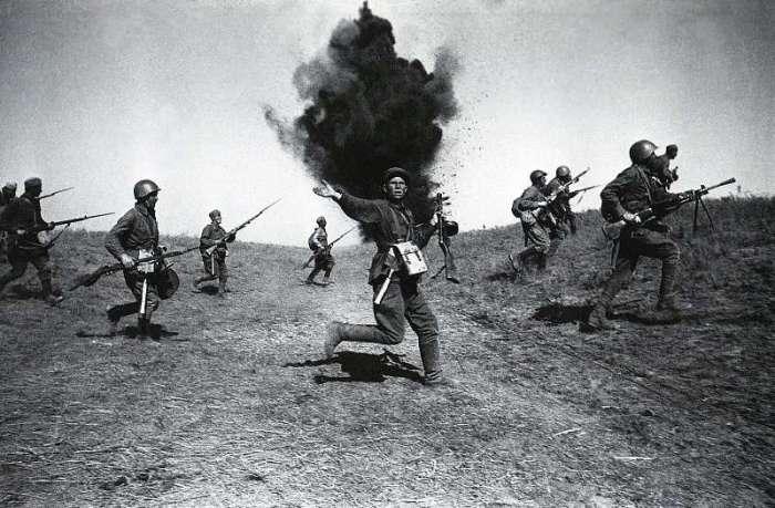 Наступление под Сталинградом. СССР, 1942 год.
