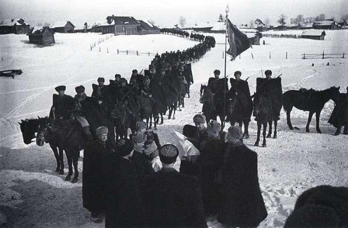 Казачья конница. СССР, Подмосковье, 1942 год.