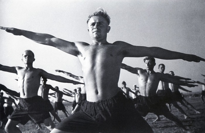 Утренняя зарядка, 1932 год.