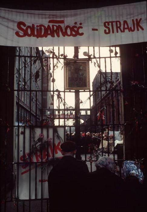 Продолжительные акции протеста в Польше. Жирардув, 1981 год.