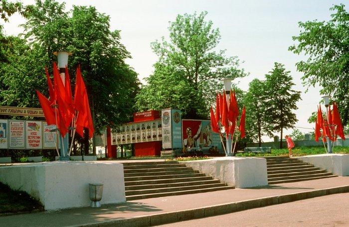 Постамент во Владимире в 1985 году.
