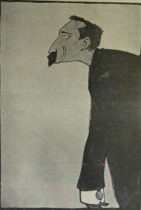Карикатура на одного из самых известных писателей 1890-х годов.
