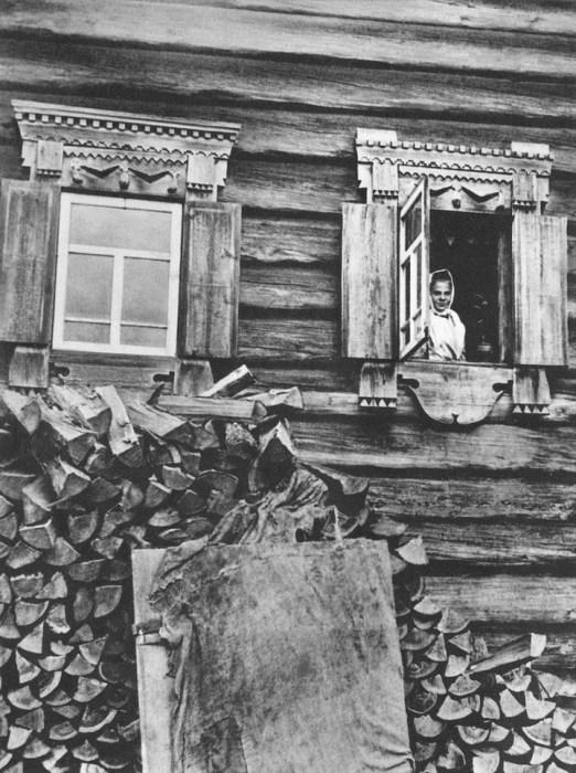 Заготовленные на зиму дрова. Россия, Северная Двина, 1890-е годы.