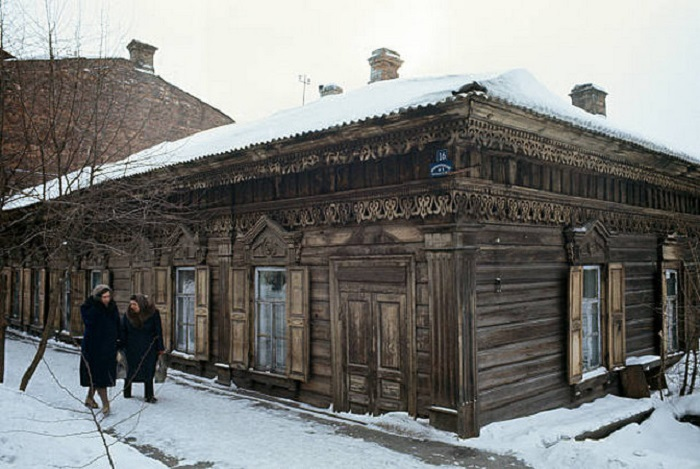 Дореволюционный дом в Иркутске.