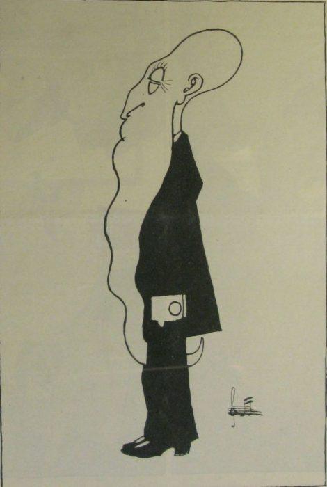 Карикатура на русского писателя и переводчика.