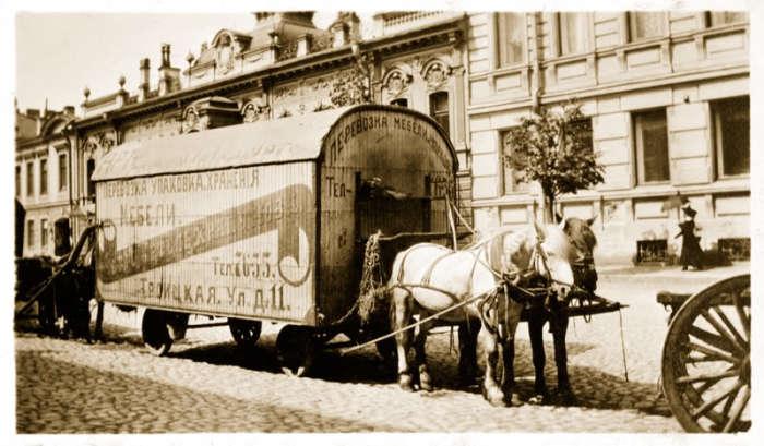Упаковка, транспортирование и хранение мебели. Петроград, 1917 год.