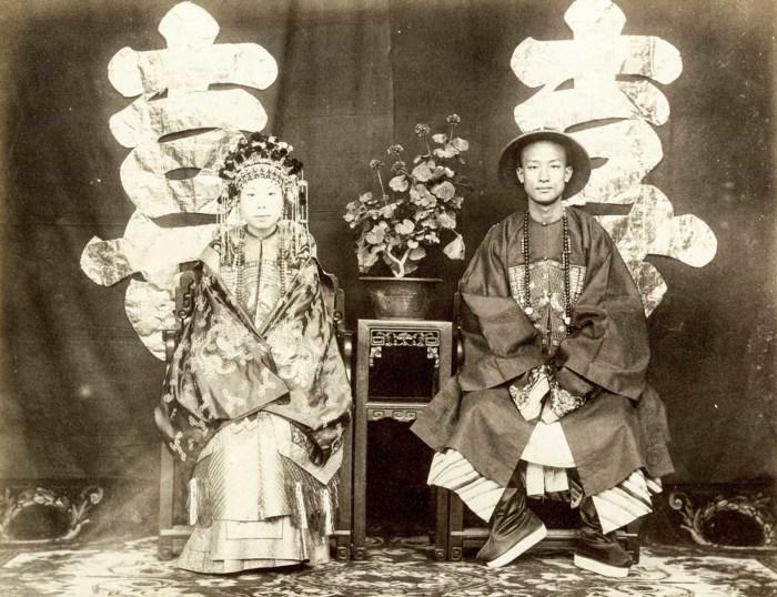 Свадебный портрет Цзэн Дзифена и Ни Чжи Гуи.