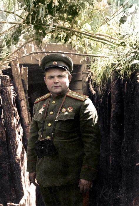 Генерал Ватутин на передовой.