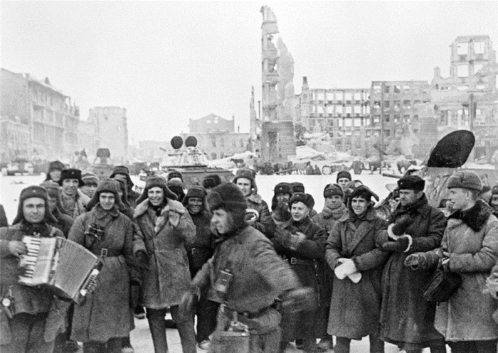 После освобождения Сталинграда в 1943 году.