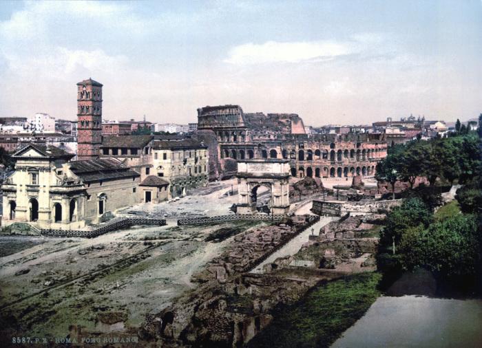 Вид на Римский форум с холма Палатина.