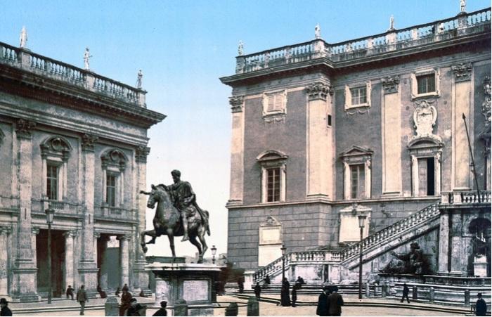 Рим в цветных открытках.