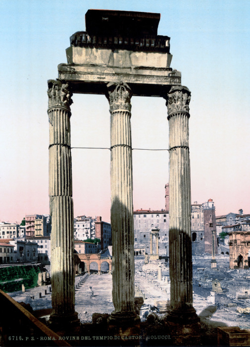 Развалины храма Кастора и Поллукса.