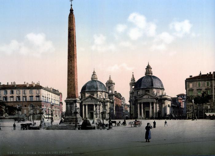 Пьяцца-дель-Пополо - площадь в Риме, от которой лучами расходятся улицы.
