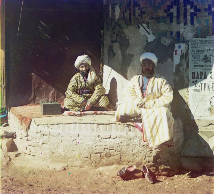 Торговцы около Регистана. Узбекистан, Самарканд, 1911 год.