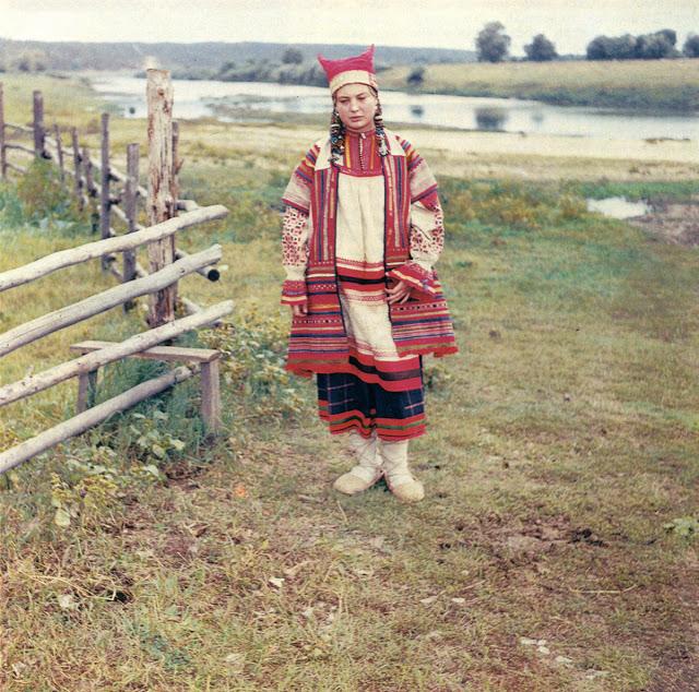 Этническое платье. Рязанская губерния, 1979 год.