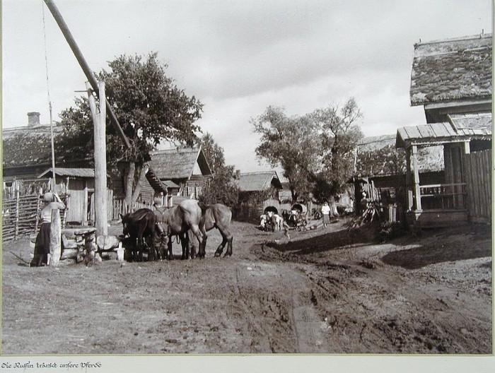 Обыкновенная жизнь в советской деревне.