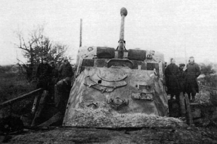 Немецкая САУ «Фердинанд» в районе Никополя.