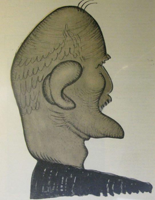 Карикатура на яркого представителя «русско-еврейской литературы».