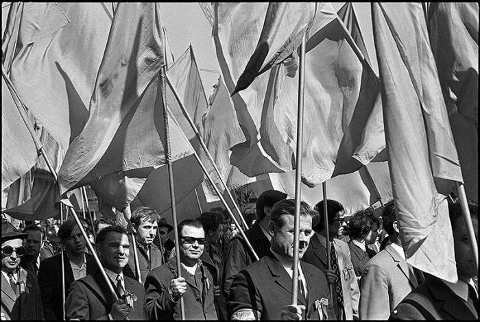 Парад на Красной площади в Москве в 1970-ом году.