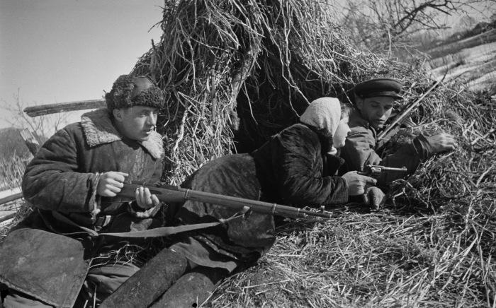 Партизаны Великой Отечественной войны.